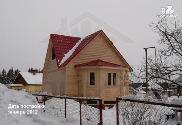 Фото 7: проект деревянный дом 6х6 с эркером