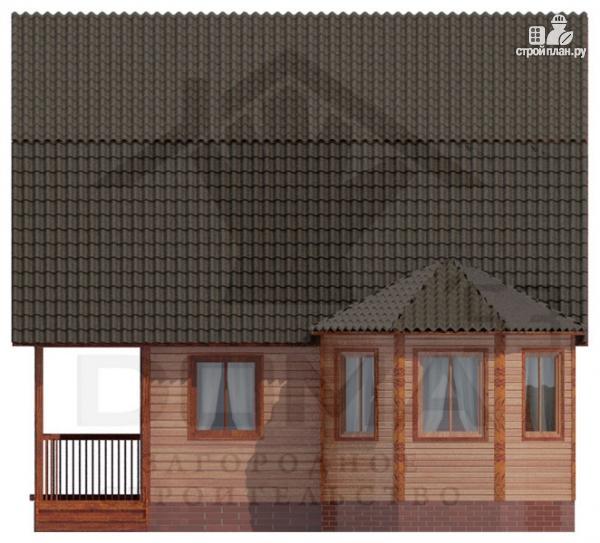 Фото 3: проект деревянный дом с балконом и террасой