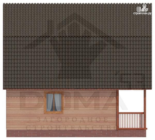 Фото 5: проект деревянный дом с балконом и террасой