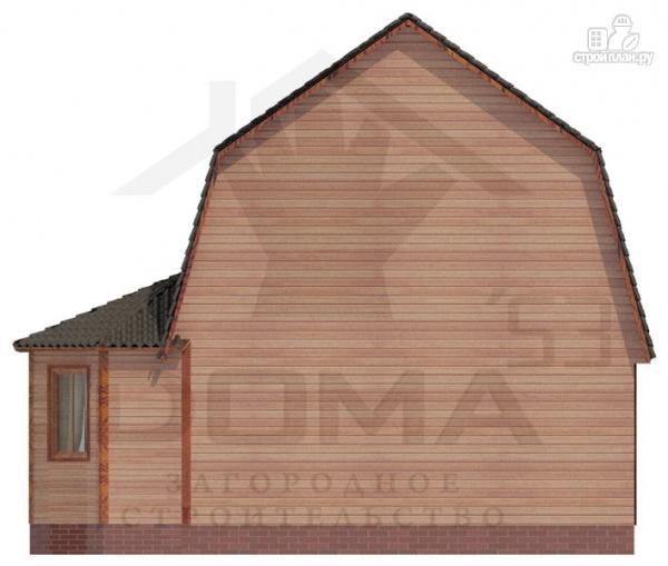 Фото 4: проект деревянный дом с балконом и террасой