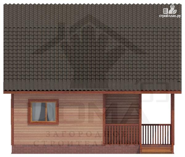 Фото 5: проект деревянный дом с угловой террасой