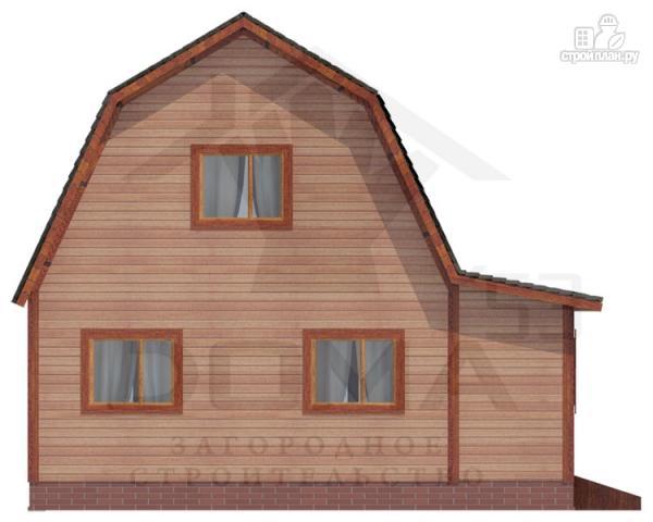 Фото 4: проект деревянный дом с угловой террасой