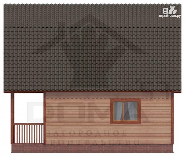 Фото 3: проект деревянный дом с угловой террасой