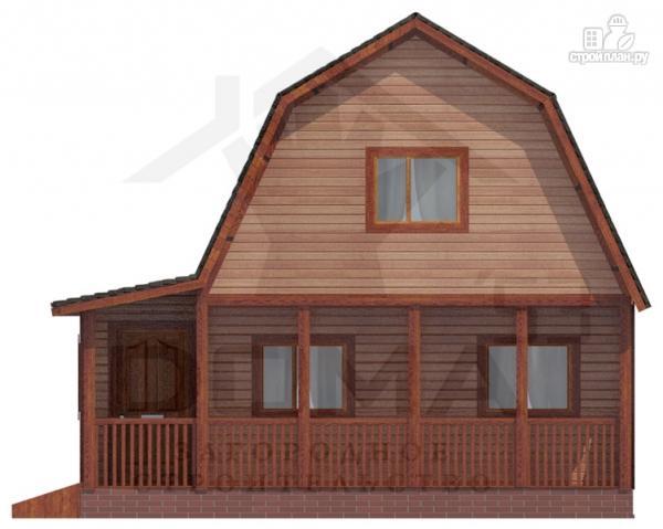 Фото 2: проект деревянный дом с угловой террасой