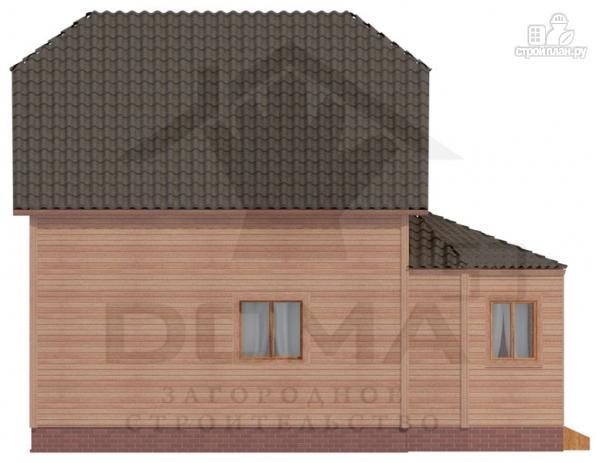 Фото 5: проект дом из профилированного бруса с верандой b большой гостиной