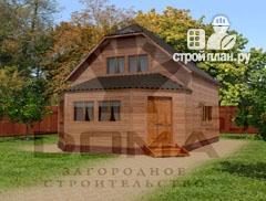 Фото: проект дом из профилированного бруса с верандой b большой гостиной