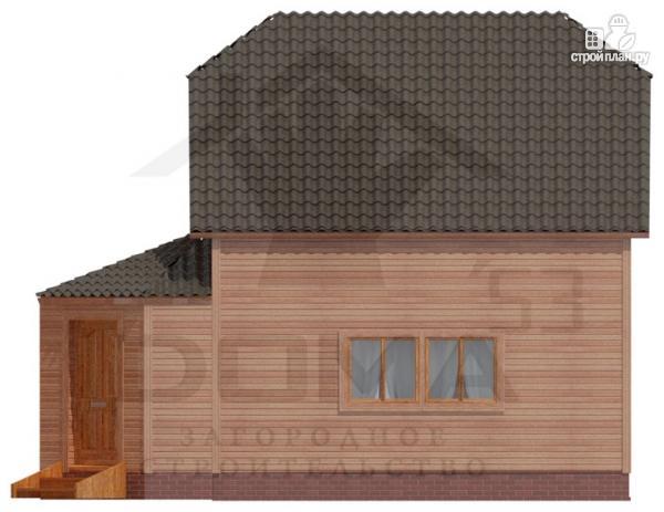 Фото 3: проект дом из профилированного бруса с верандой b большой гостиной