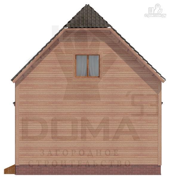Фото 4: проект дом из профилированного бруса с верандой b большой гостиной