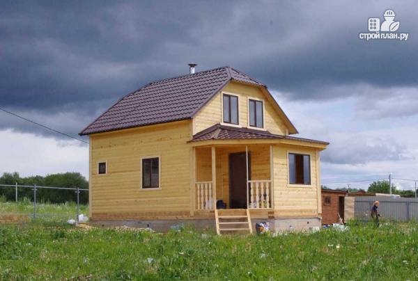 Фото 7: проект дом из профилированного бруса с верандой b большой гостиной