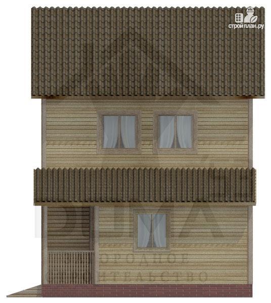 Фото 3: проект двухэтажный деревянный дом 6х8