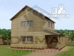 Фото: проект двухэтажный деревянный дом 6х8
