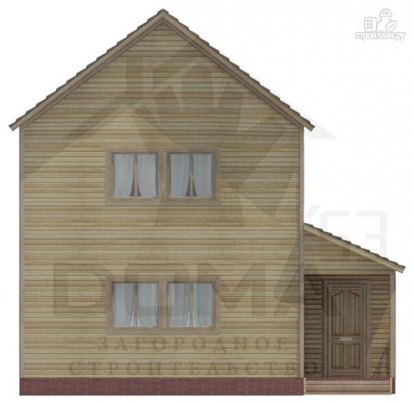 Фото 2: проект двухэтажный деревянный дом 6х8
