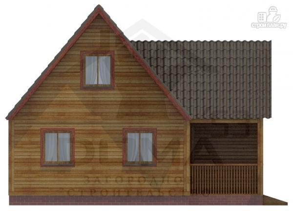 Фото 2: проект деревянный дом 8х9 с мансардным этажом