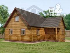 Фото: проект деревянный дом 8х9 с мансардным этажом