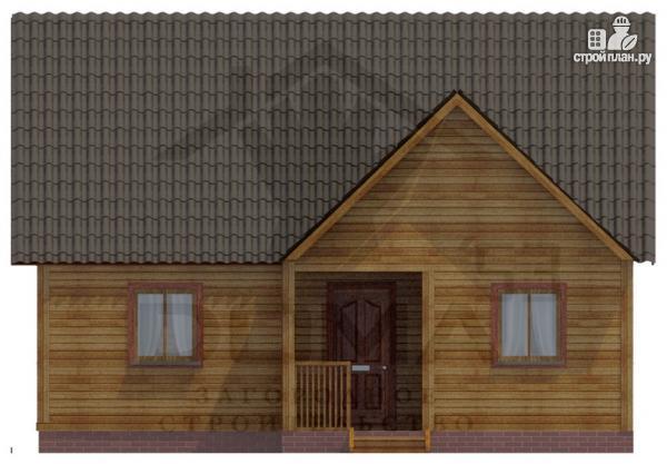 Фото 3: проект деревянный дом 8х9 с мансардным этажом