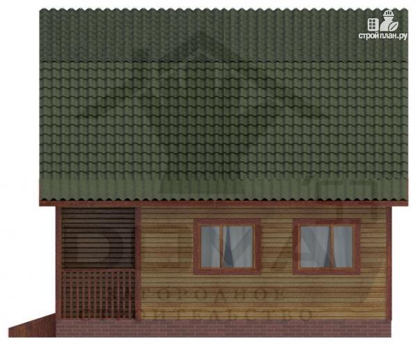 Фото 3: проект деревянный дом 7х9 с верандой