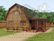 Проект деревянный дом 7х9 с верандой