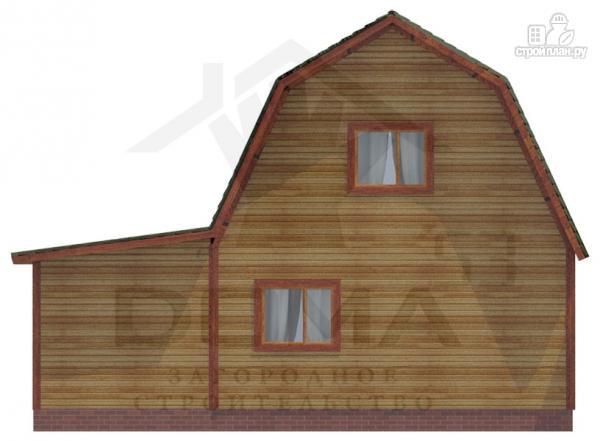 Фото 4: проект деревянный дом 7х9 с верандой