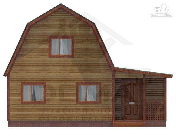 Фото 2: проект деревянный дом 7х9 с верандой