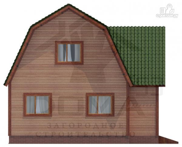 Фото 2: проект двухэтажный дом из профилированного бруса