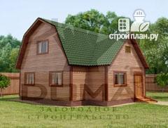 Фото: проект двухэтажный дом из профилированного бруса