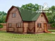 Проект двухэтажный дом из профилированного бруса