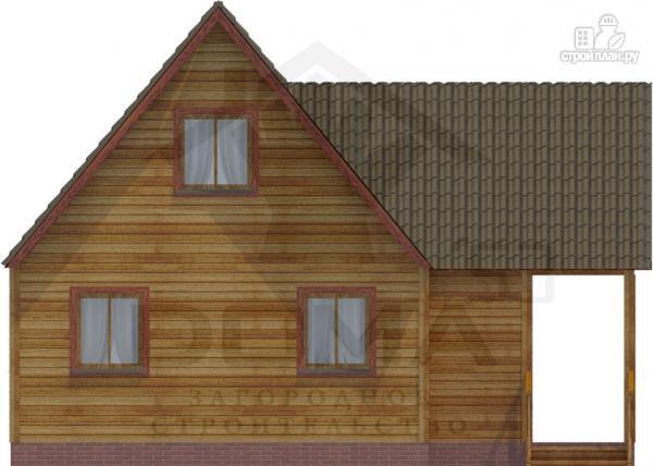 Фото 5: проект деревянный дом 9х9 с террасой