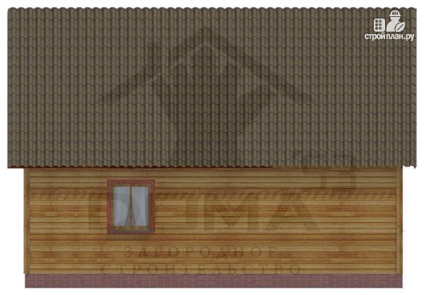Фото 4: проект деревянный дом 9х9 с террасой