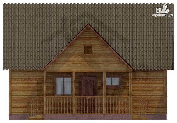 Фото 2: проект деревянный дом 9х9 с террасой