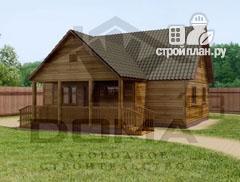 Фото: проект деревянный дом 9х9 с террасой