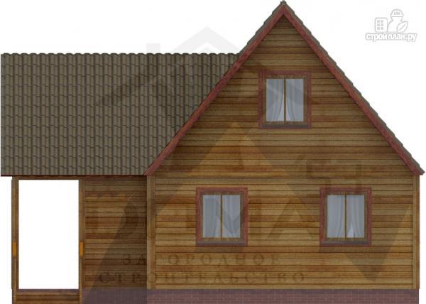 Фото 3: проект деревянный дом 9х9 с террасой