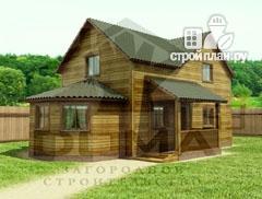 Фото: проект деревянный дом с эркером