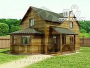 Проект деревянный дом с эркером
