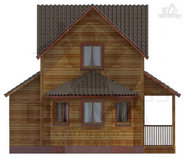 Фото 2: проект деревянный дом с эркером