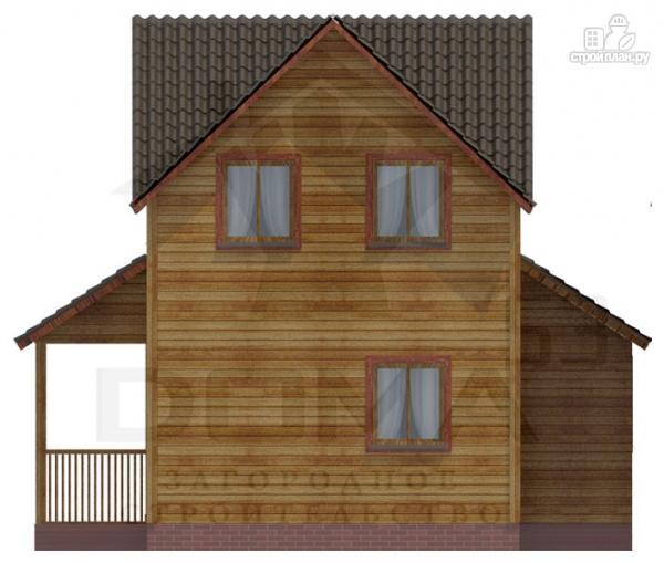 Фото 4: проект деревянный дом с эркером