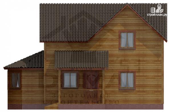Фото 3: проект деревянный дом с эркером