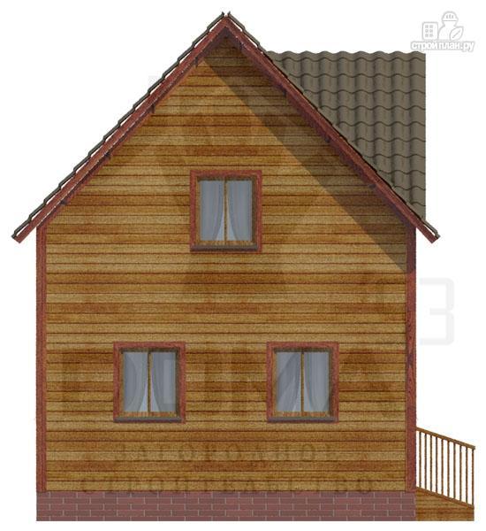 Фото 2: проект дом 6х9 из бруса, мансардный этаж