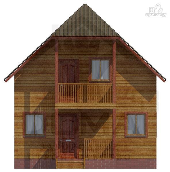 Деревянный дом с балконом и крыльцом, проект гатчина.