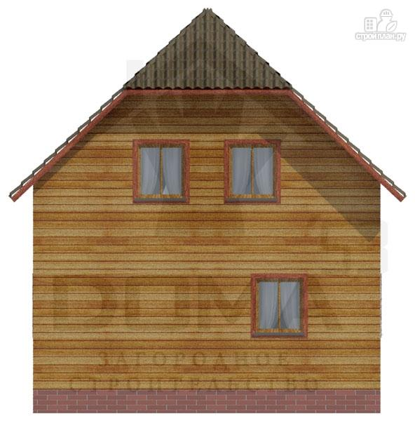 Фото 4: проект деревянный дом с балконом и крыльцом