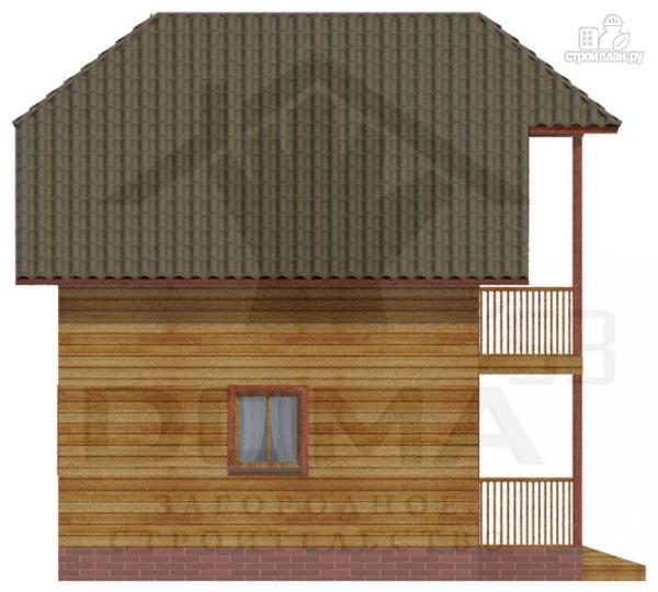 Фото 5: проект деревянный дом с балконом и крыльцом