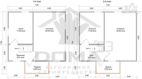 Фото 6: проект деревянный дом с балконом и крыльцом