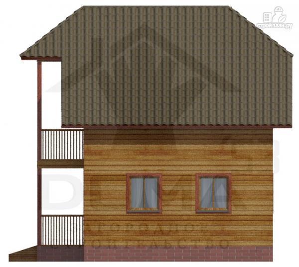 Фото 3: проект деревянный дом с балконом и крыльцом