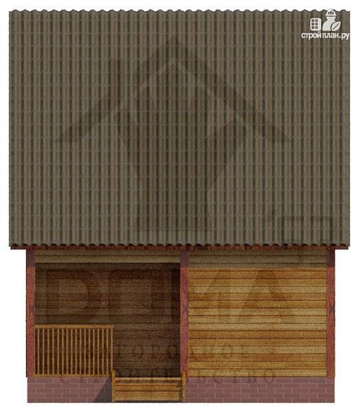 Фото 3: проект деревянный дом с двумя спальнями