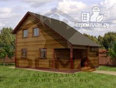 Фото: проект деревянный дом с двумя спальнями