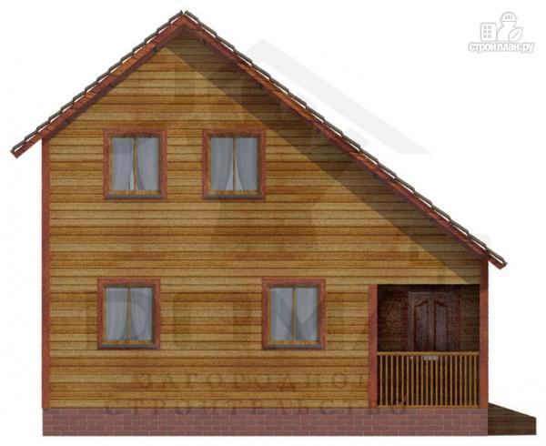 Фото 2: проект деревянный дом с двумя спальнями