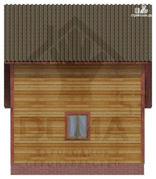 Фото 5: проект деревянный дом с двумя спальнями