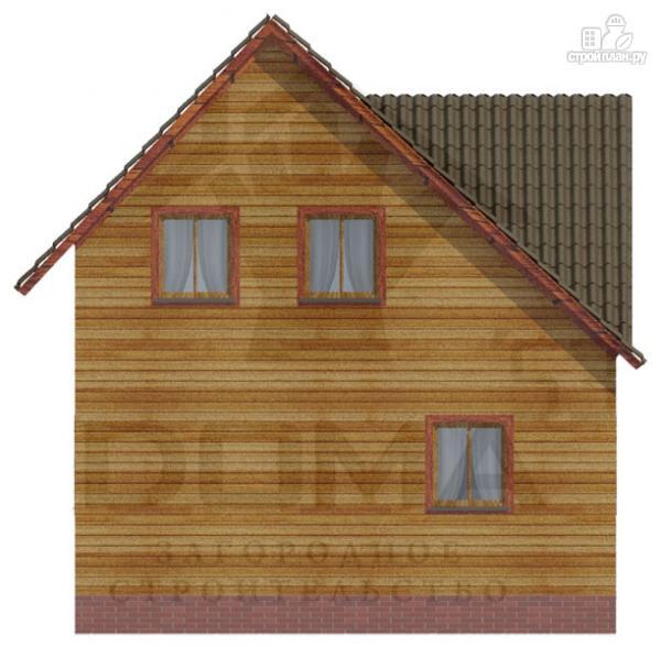 Фото 4: проект деревянный дом с мансардой и тремя фронтонами
