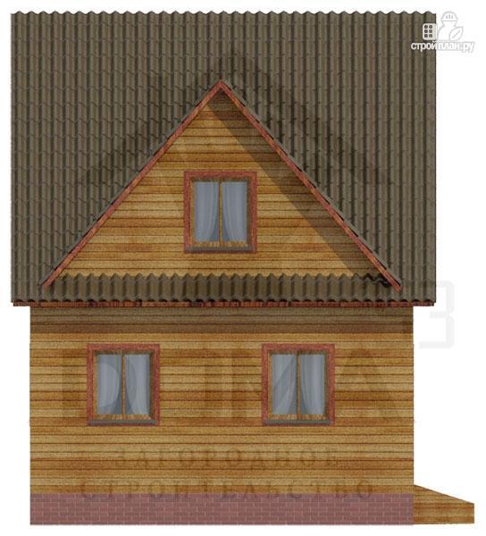 Фото 5: проект деревянный дом с мансардой и тремя фронтонами