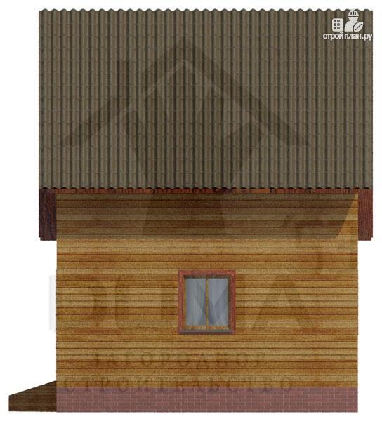 Фото 3: проект деревянный дом с мансардой и тремя фронтонами