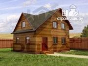 Проект деревянный дом с мансардой и тремя фронтонами